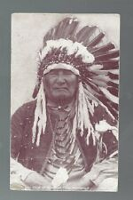 """Blackfoot Chief ""  Montana POSTCARD"