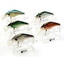 Lot 5 pcs Kinds of Fishing Lures Crankbaits Hooks Minnow Baits Tackle Hard Baits