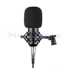 Pro Studio Condenser Dynamic Microphone Mic w/ Shock Mount & Diaphragm Capsule
