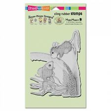 HOUSE MOUSE RUBBER STAMPS CLING SLAPSTICK FISHY KISS NEW STAMP