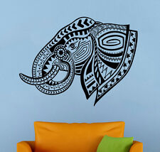Indian Elephant Head Wall Sticker Animals Vinyl Decal Atr Home Wall Decor (17ie)