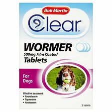 Bob Martin Clear All in One Wormer Tablets for Dogs 3 Tablets