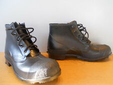 Nos Vintage 1960s DeadStock Black Rubber Hunting Fish Rain Mukluk Duck Boots 12