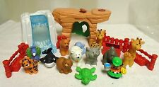 FISHER  PRICE  LITTLE  PEOPLE  ALPHABET  ZOO  WATER  FALLS,  MOUNTAIN DEN  &