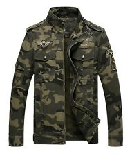 Men Bomber Military Jacket Camouflage Security Army Work Outwear Coat Zipper HOT
