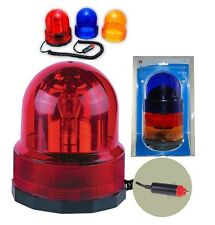 3-in-1 Revolving Warning Light With Three Colors Amber/Red/Blue-12V Magnet Base