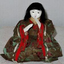 """Antique Japanese Seated 4.5"""" Musician Hina Doll BH1#AD4161415.8"""