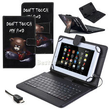 Angry Bear Leather Keyboard Case Cover For Samsung Galaxy Tab S2 9.7 T810 T815