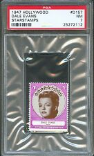 1947 Hollywood Star Stamps #D147 DALE EVANS Singer Wife of Roy Rogers PSA 7 NM