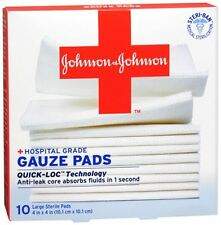 JOHNSON - JOHNSON Red Cross First Aid Gauze Pads 4 Inches X 4 Inches 10 Each