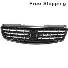 Front Chrome Shell Dark Gray Insert Grille Fits 05-06 Nissan Altima NI1200213