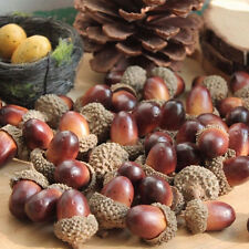 10x Decorative Fake Fruits Artificial Mini Acorn Oak Nut Ornaments Home Decor FG