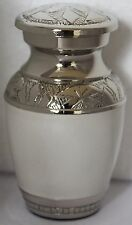 Mini Keepsake Urn Small Cremation Urn for Ashes Funeral Memorial Urn White-SALE