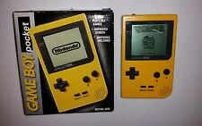 Nintendo Game Boy Pocket YELLOW Handheld System With Original Box