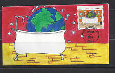 #2951 Earth Day first day cover, Sarver hand painted cachet limited to only 23