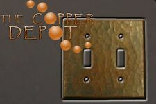 Copper Double Toggle Hammered Switchplate To Match Sink