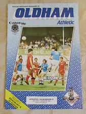 The Official Match Day Magazine Of Oldham Athletic & Blackburn Rovers 1985