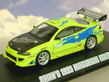 Greenlight 1/43 Brian's 1995 Mitsubishi Eclipse Lime Verde Fast & Furious 86203