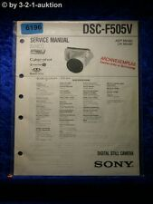 Sony Service Manual DSC F505V Level 1 Digital Still Camera (#6196)