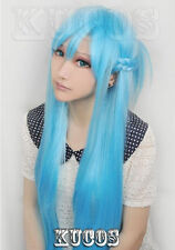 light blue Sword Art Online Asuna Yuuki  braided cosplay wig