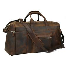 Real Leather grand Voyage Bagages à main Duffel Sac de sport fourre-tout Valises