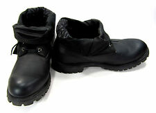 Timberland Shoes Roll Top Leather Black Boots Size 13 EUR 47.5