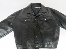 Rare Schott NYC Made in USA Trucker 100% leather jacket Model=110 Size 54