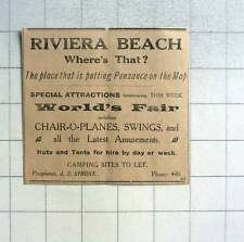 1930 Riviera Beach Putting Penzance On The Map Chair-o-planes, Swings, Js Symons
