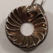Bruce Lafountain Chippewa Indian Spirit Friends Sterling Silver Pendant Necklace