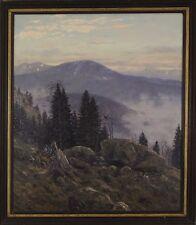 CHRISTIAN HAUG (German, 1879-1942)  MOUNTAIN LANDSCAPE Oil on Board Signed