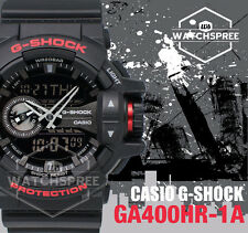 Casio G-Shock Black & Red Series Special Color Model Watch GA400HR-1A