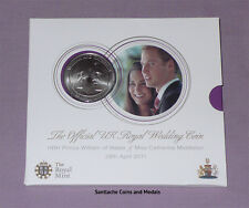 2011 ROYAL MINT SPECIMEN £5 CROWN IN PACK - Prince William & Catherine Wedding