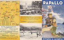* RAPALLO - Brochure Depliant - Riviera di Levante