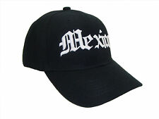 Mexico Old English Embroidered Black & White Baseball Cap Caps Hat Hats