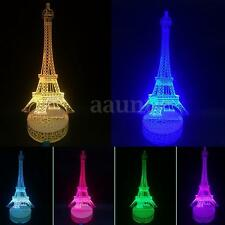 3D Illuminated Eiffel Tower LED Night Light 7 Color Change USB Table Lamp Gift