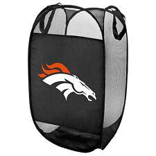 Denver Broncos NFL Laundry Hamper Fold Up Flip Open Forever Collectibles