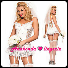 Sarah SEXY Uniform Wedding Night LINGERIE Set sex Babydoll Dress Halloween toy