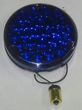 KENWORTH 24 BLUE LED 4 INCH ROUND SEALED BACK OF SLEEPER WORK LIGHT  GGA 76155