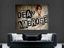 WWE DEAN AMBROSE  WRESTLING USA SPORT WALL POSTER ART PICTURE PRINT LARGE  HUGE