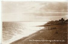 "Sussex Postcard - ""Sunkissed Waves"" - Evening at Bexhill-on-Sea - RP A9469"