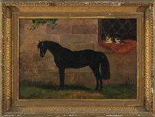 Horse portrait with cat in window (19th century) Lot 250