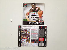 Jaquette Avant-Arriere/Front-Back Cover NBA Live 2002 Playstation 1