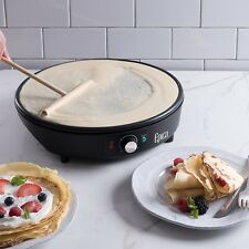 Electric Crepe Maker Griddle Non Stick Pancake Breakfast Eggs Bacon Burgers New
