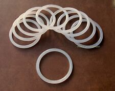 "25 Retail Store Thick Acrylic Scarf and Belt Rings Hangers 3.5"" [9cm] OD"