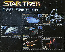 Palau 2015 MNH Star Trek Deep Space Nine 6v M/S USS Defiant Spaceships Stamps