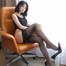 Halterlose Struempfe  Frauen Schwarz Strümpfe Oberschenkel Kniehohe Strümpfe