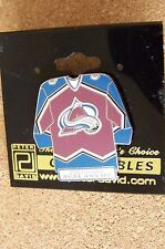 Colorado Avalanche jersey lapel pin with team name NHL
