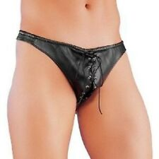 mens sex y faux leather posing  brief novelty underwear jock toys stripper SEXYY