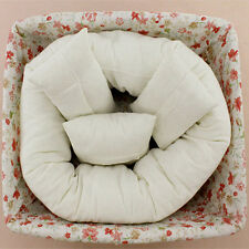 4pcs Newborn Baby Photography Pillow Basket Filler Wheat Donut Posing Props ly