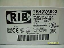 RIB® / Functional Devices Transformer TR40VA002, 40VA, 120-24V *NOS*